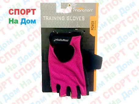Перчатки для фитнеса, атлетические Maraton Размер S (цвет розовый, черный), фото 2