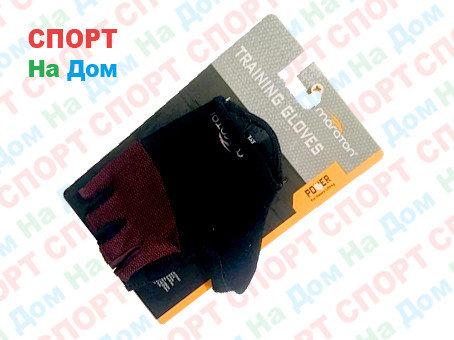 Перчатки для фитнеса, атлетические Maraton Размер M (цвет красный, черный), фото 2