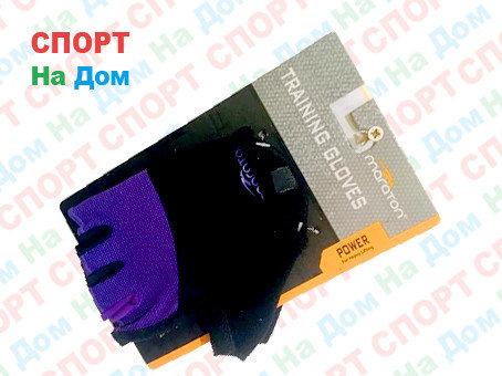 Перчатки для фитнеса, атлетические Maraton Размер M (цвет фиолетовый, черный), фото 2