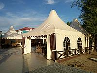 Изготовление тентов и шатров для кафе
