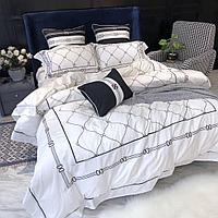 Комплект постельного белья двуспальный LUX сатин, с вышивкой