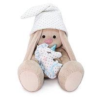"""Мягкая игрушка """"Zaika Mi"""" Зайка Ми с голубой подушкой-единорогом (малый)"""