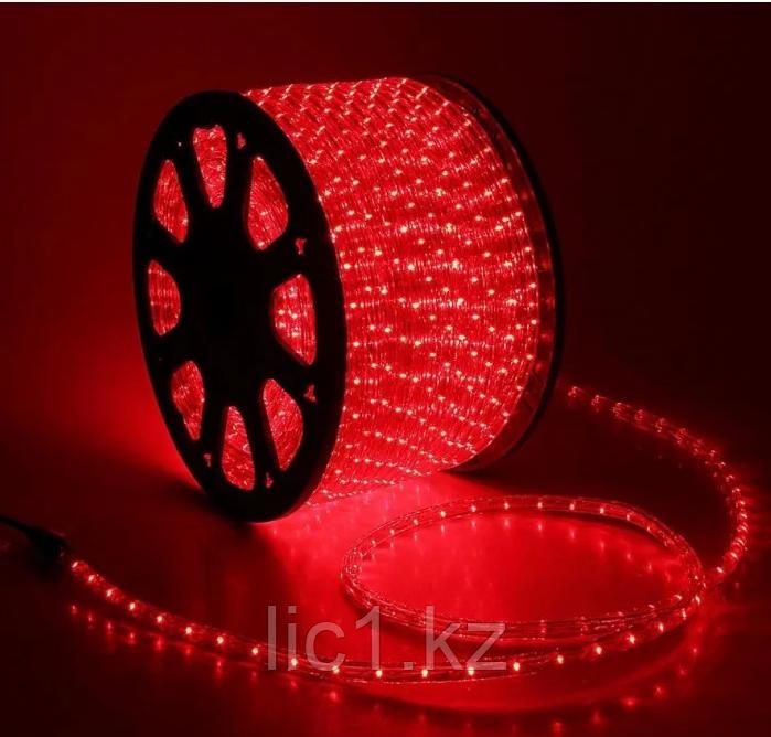 Дюралайт led, светодиодная лента, праздничное освещение, гирлянда D1R 100 метров красный