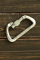 Карабин альпинистский дюралевый РИНГ трапеция с ребрами жесткости keylock 22кН