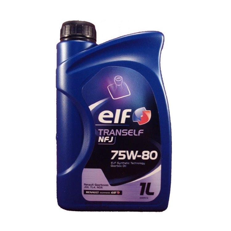 Трансмиссионное масло ELF TRANSELF NFJ 75W-80 для МКПП, RENAULT для коробок передач JXX, TL4 и NDX. 1L