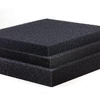 Фильтр поролоновый серого цвета мелкопористый (50*50*2 см), фото 1