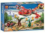 Конструктор Lari City Пожарный самолёт 11214 (Аналог лего LEGO City 60217) 381 дет, фото 6