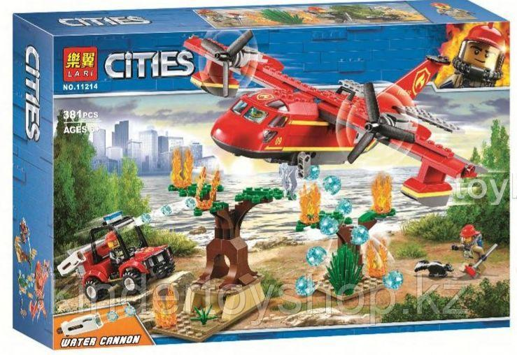Конструктор Lari City Пожарный самолёт 11214 (Аналог лего LEGO City 60217) 381 дет