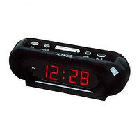 Часы электронные сетевые с будильником LED ALARM CLOCK VST-716 (Красный)