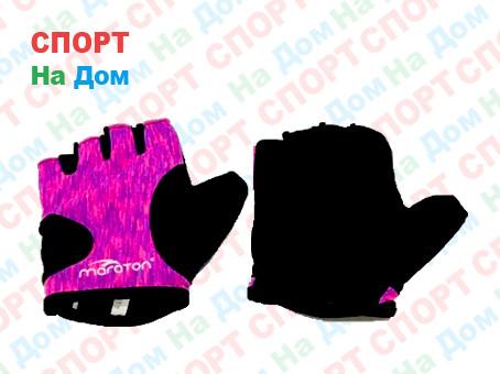 Перчатки для фитнеса, атлетические Maraton Размер M (цвет розовый)