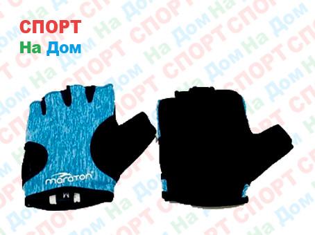 Перчатки для фитнеса, атлетические Maraton Размер S (цвет голубой)