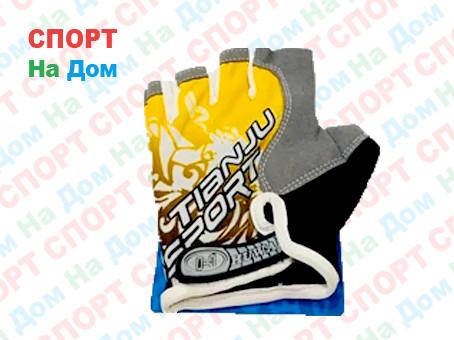 Перчатки для фитнеса, атлетические Tianju Sport Размер M (цвет желтый, розовая вставка)