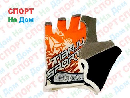 Перчатки для фитнеса, атлетические Tianju Sport Размер M (цвет красный), фото 2