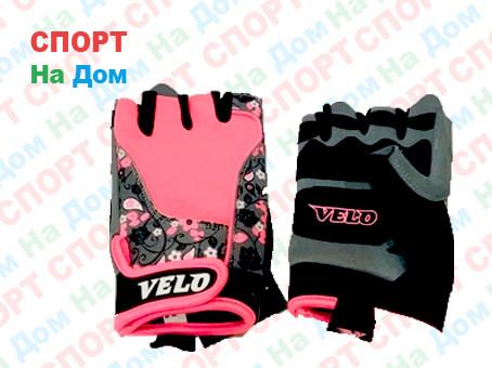 Перчатки для фитнеса, атлетические Velo Размер S (цвет розовый)