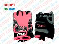 Перчатки для фитнеса, атлетические Velo Размер XS (цвет розовый)