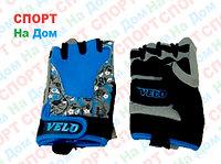 Перчатки для фитнеса, атлетические Velo Размер 2XS (цвет голубой)