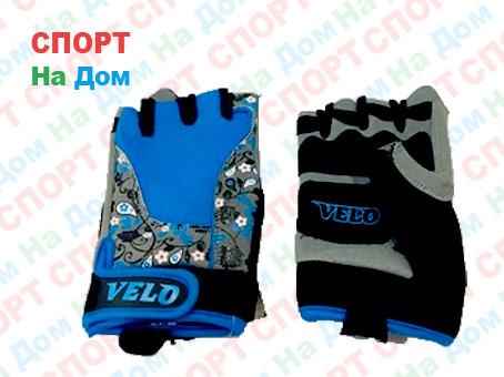 Перчатки для фитнеса, атлетические Velo Размер M (цвет голубой)