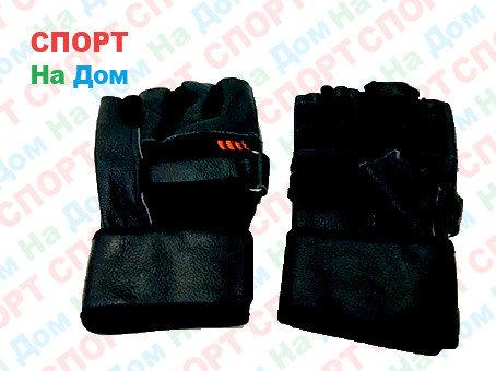 Перчатки для фитнеса, атлетические Размер L (цвет черный), фото 2