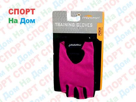 Перчатки для фитнеса, атлетические Maraton Размер M (цвет розовый), фото 2