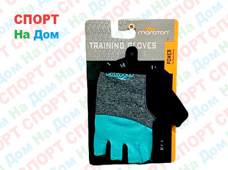 Перчатки для фитнеса, атлетические Maraton Размер M (цвет голубой), фото 2