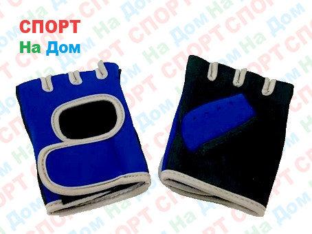 Перчатки для фитнеса, атлетические Размер L (цвет синий), фото 2