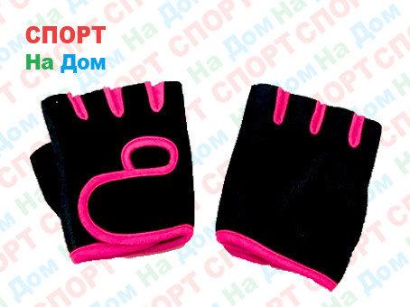 Перчатки для фитнеса, атлетические Размер L (цвет розовый), фото 2