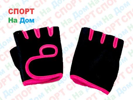 Перчатки для фитнеса, атлетические Размер M (цвет розовый)