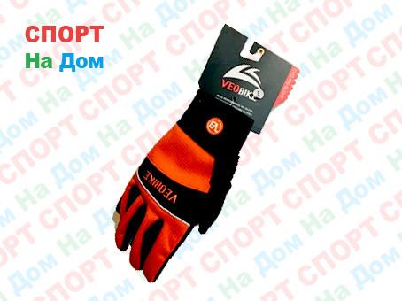 Перчатки велосипедные с пальцами VeoBike Размер L (цвет красный)