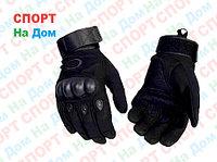 Перчатки тактические с пальцами (цвет черный)
