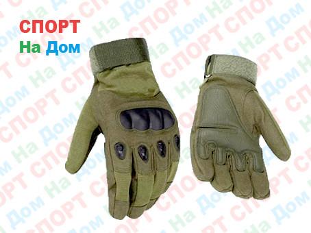 Перчатки тактические с пальцами  (цвет зеленый)