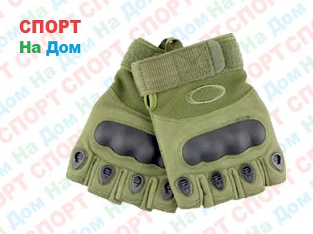 Перчатки тактические без пальцев Размер XXL (цвет зеленый)