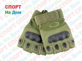 Перчатки тактические без пальцев (цвет зеленый)