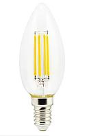 Ecola свеча E14 5W 4000K 4K прозр. 96x37 филамент (нитевидная), 360° N4CV50ELC