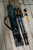 Палки для скандинавской ходьбы Альпин Самит (хаки/синий)