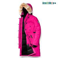 Стильная женская парка от Canada Goose розовая, фото 1
