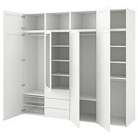 Гардероб ОПХУС  белый, Саннидаль Ридабу, 240x57x221 см ИКЕА, IKEA, фото 1