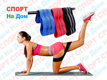 Резинка для фитнеса, фитнес жгуты (цвет серый), фото 2