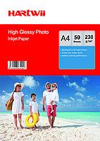Фотобумага A4 для прин. 230 гр.Hartwii 50л глян.одн.