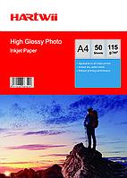 Фотобумага A4 для прин. 115 гр.Hartwii 100 л глян.одн.