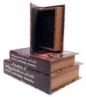 Набор деревянных шкатулок-книг «Фолиант» [комплект из 3 шт.] (Paris), фото 1