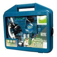 Лаборатория в чемодане: микроскоп 1200х с набором принадлежностей [28 предметов]