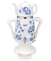 Cамовар-термопот электрический с керамическим чайником «Гжель» AQUAPROF KSW-2934 (Белый)