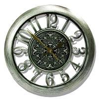 Часы настенные с прозрачным циферблатом, диаметр 27.5 см (Серебряный), фото 1