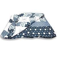 Одеяло-покрывало стеганое двуспальное с наволочками, 220х240см, AY-048 (Голубой)