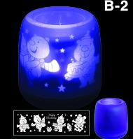 Электронная светодиодная свеча «Задуй меня» с датчиками дистанционного включения (B2 С днем рождения), фото 1