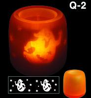 Электронная светодиодная свеча «Задуй меня» с датчиками дистанционного включения (Q2 Привидение), фото 1