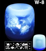 Электронная светодиодная свеча «Задуй меня» с датчиками дистанционного включения (Скелетики), фото 1