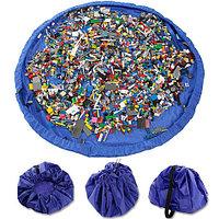 Сумка-коврик для игрушек Toy Bag (Ø 100 см / Лимонно-синяя), фото 1