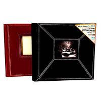 Фотоальбом в переплёте из экокожи с белой строчкой [160 фото; 10х15] (Красный)