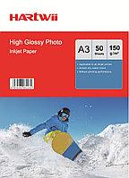 Фотобумага A3 для прин. 150 гр.Hartwii 50л глян.одн.